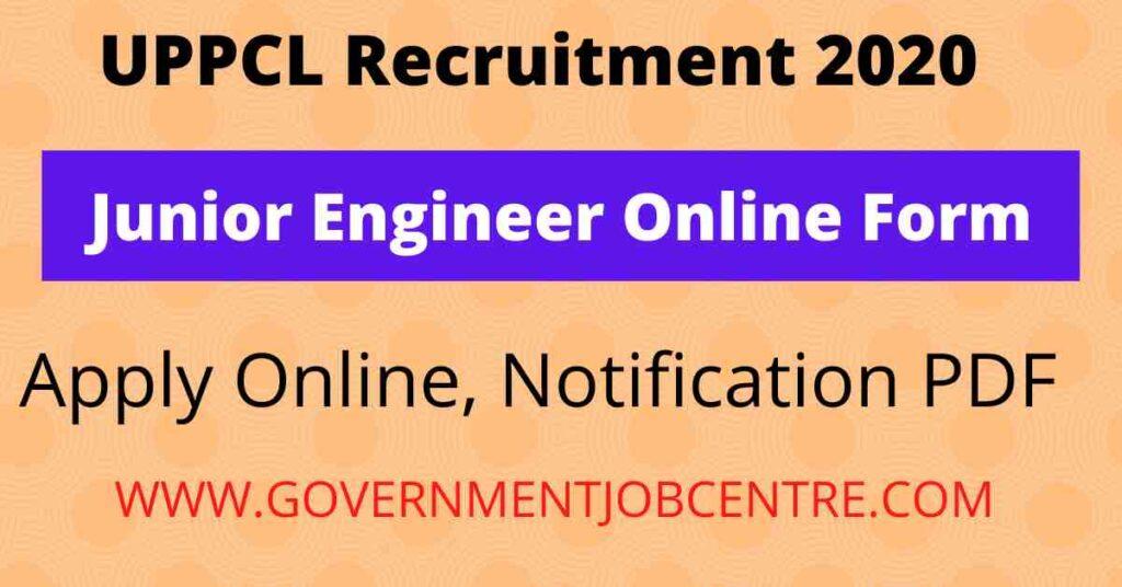 UPPCL Junior Engineer Online Form 2020