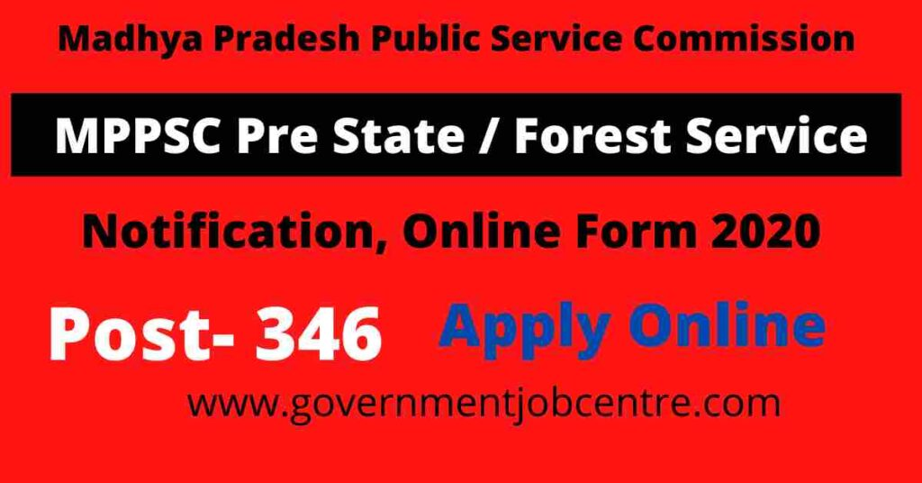 MPPSC Pre SSE SFSE Online Form 2020