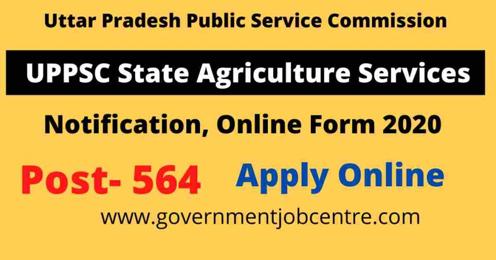 UPPSC State Agriculture Services