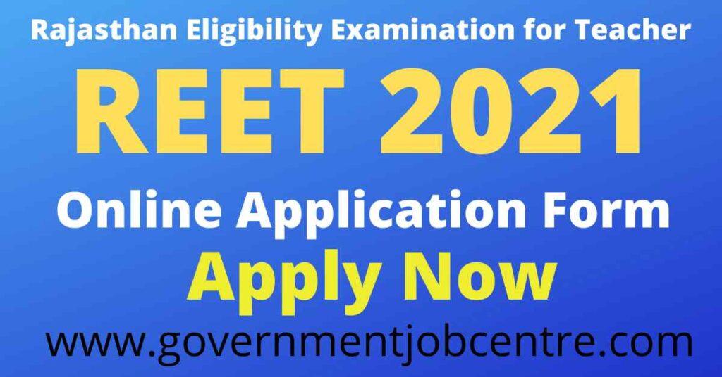 REET 2021 Online Form