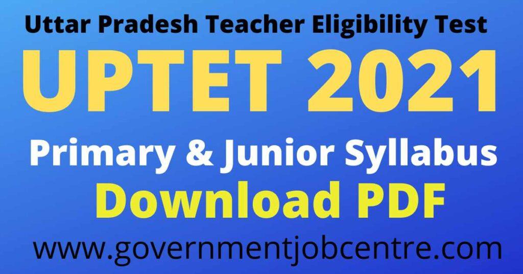 UPTET 2021 syllabus