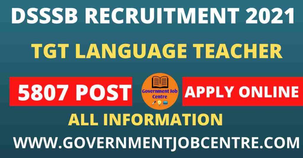 DSSSB TGT Language Teacher